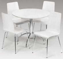 Madison White Lacquered Dining Set